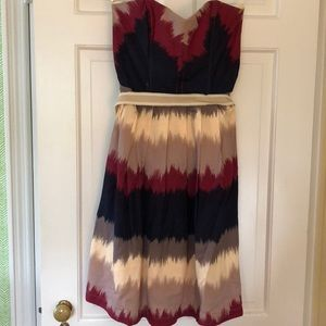 Strapless, multicolored dress